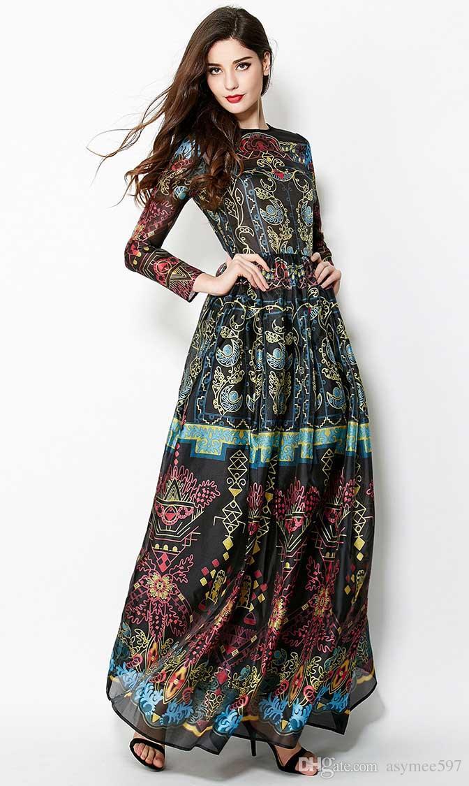 vestidos estilo elegante vestido bola pista saia 2020 meninas e ladys moda, festa e festivel imprimir vestido longo
