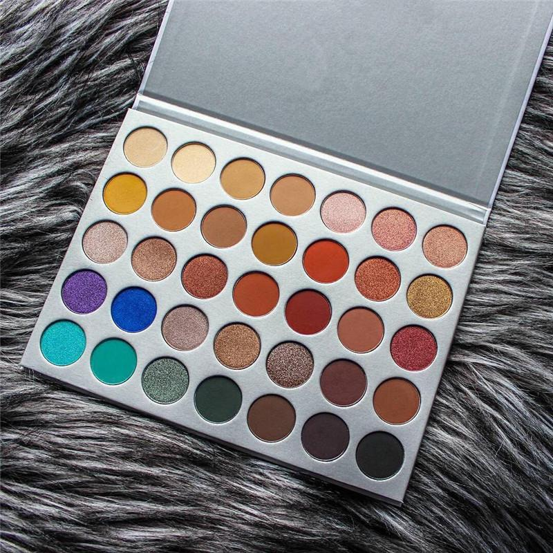 Drop ship 35 colors eye shadow Palette Matte Shimmer Eye shadow makeup palette 35colors Cosmetic palette eye shadow 1pcs