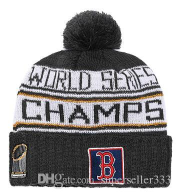 2019 2018 RED SOX CHAMPIONS Beanie WS WORLD SERIES HAT Sideline Cold  Weather Sport Knit Hat Adjutabble Snapback Football Baseball Cap Beanie 001  From ... 39aaf8ba964