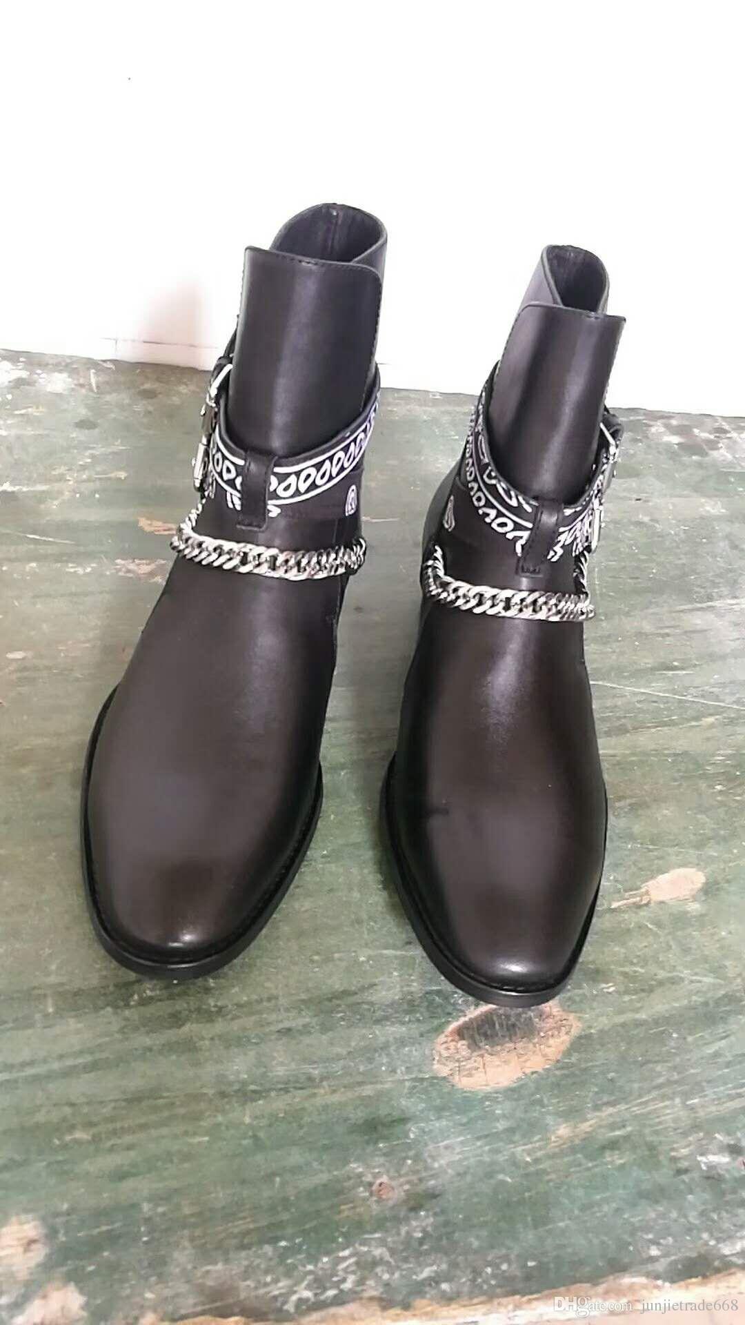 Liste des magasins d'usine nouvelle liste Angleterre bout pointu wyatt Chelsea hommes bottes Boucle Strap slp cheville luxe daim cowboy slp bottes