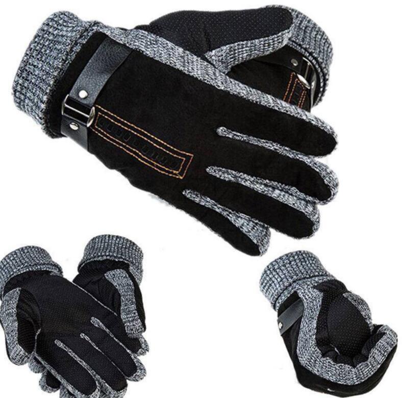 2c958062cb7cd Men Winter Warm Mittens Pigskin Leather Gloves Ski Warm Gloves Motorcycle  Thicken Driving Gloves Mittens LJJK1120 Standard Baby Crib Cribs And  Dresser Sets ...