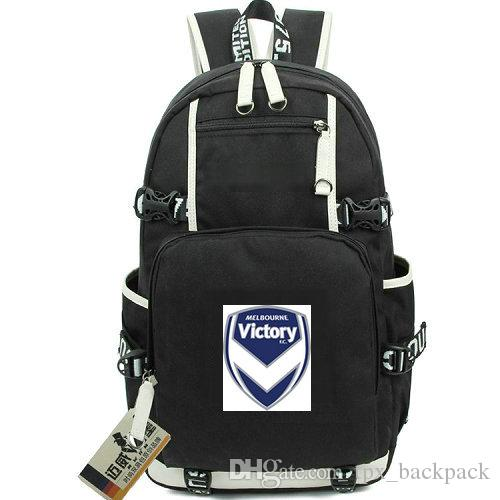 Professional Backpack Melbourne Victory Day Pack Football Club School Bag  Soccer Knapsack Laptop Rucksack Sport Schoolbag Out Door Daypack Small  Backpack ... a79bc400a85bf