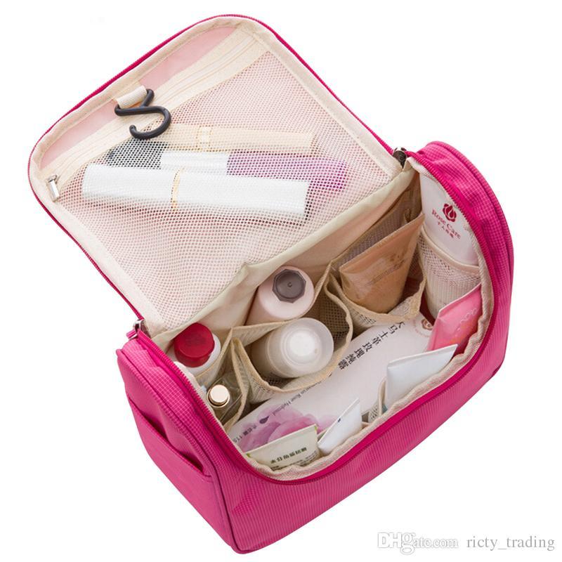 2f078da7da 2018 Travel Cosmetic Bags Fashion Waterproof Polyester Multifunction ...