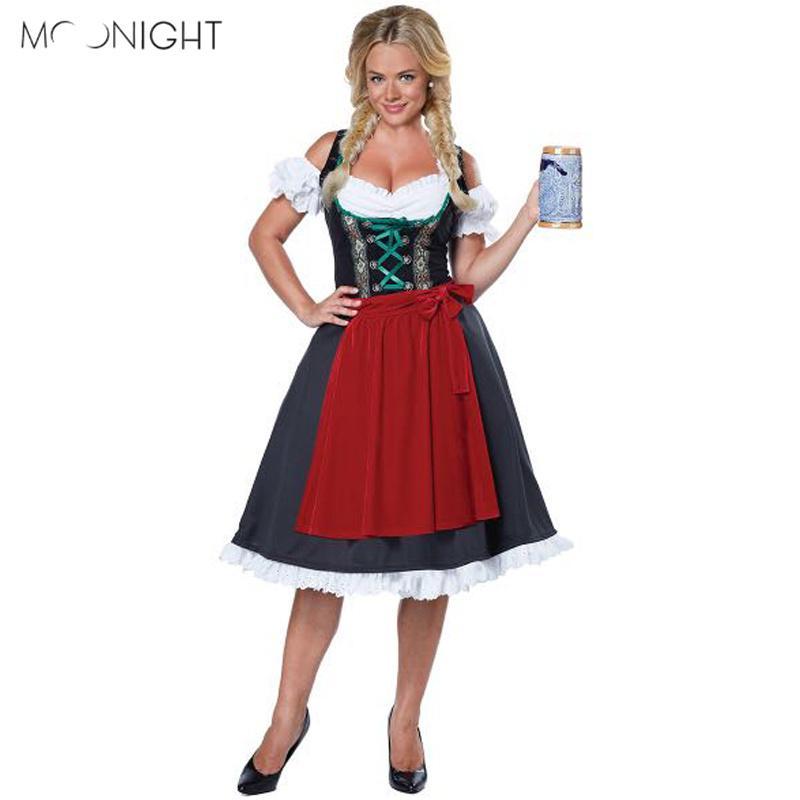 Compre MOONIGHT Nueva Moda Oktoberfest Traje Bávaro Alemán Disfraces De  Lujo Dirndl Cerveza Chica Traje De Mucama Sexy A  43.42 Del Yonnie  85ab4b0645d