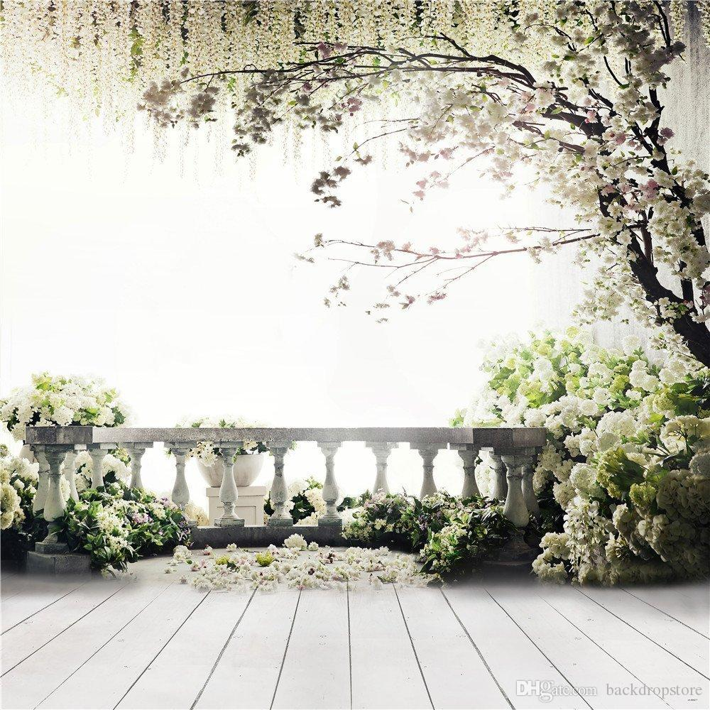 2018 Garden Balcony Spring Blossoms Wedding Background Photography