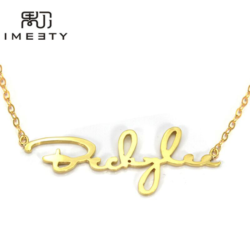 wholesale custom signature name necklace jewelry handwriting nameplate  necklace personalized signature necklaces for women