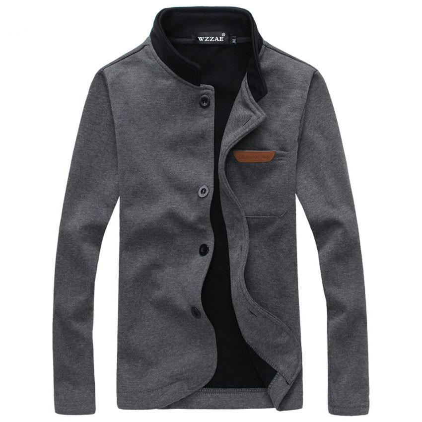 2e0ce3654e0 Men Jacket Plus Size M 5XL Brand New Fashion Stand Collar Men Jackets Autumn  And Winter Casual Men S Fleece Coat Designer Jackets Summer Jacket From ...