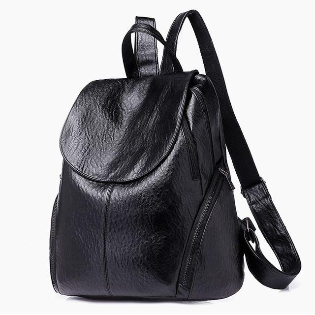 485aedf5b680 2018 Fashion Women Backpacks PU Leather Backpack Shoulder Bags Daypack For Women  Female Rucksack Feminine Mochila Hunting Backpacks Gregory Backpacks From  ...