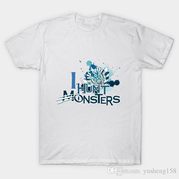 e4d8f2b9b8a I Hunt Monster Monster Hunter Men Clothes Short Sleeve Slim Fit T ...