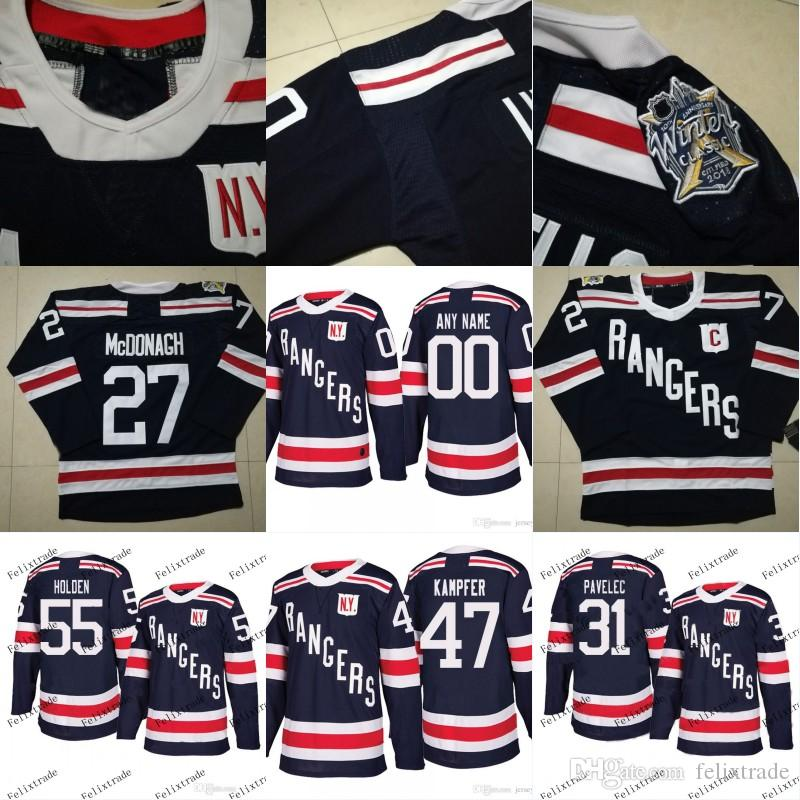 New York Rangers 2018 Winter Classic Jersey 55 Nick Holden 47 Steven ... df74c6c90