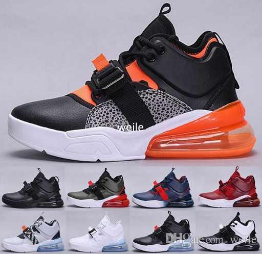 344157d842e Force 270 Mens Running Shoes Leather Air Sneakers Triple Black White  Olympic Safari Gold Standard Dream Team Forces 270s Sports Sportswear 270 Running  Shoes ...