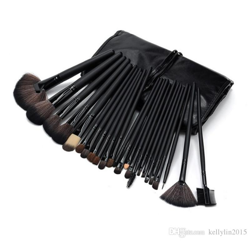 Professional Makeup Brushes Set Mini Pink Black Cosmetic Make up Brushes for Powder Foundation Eyeshadow Lip brush with Bag Cases