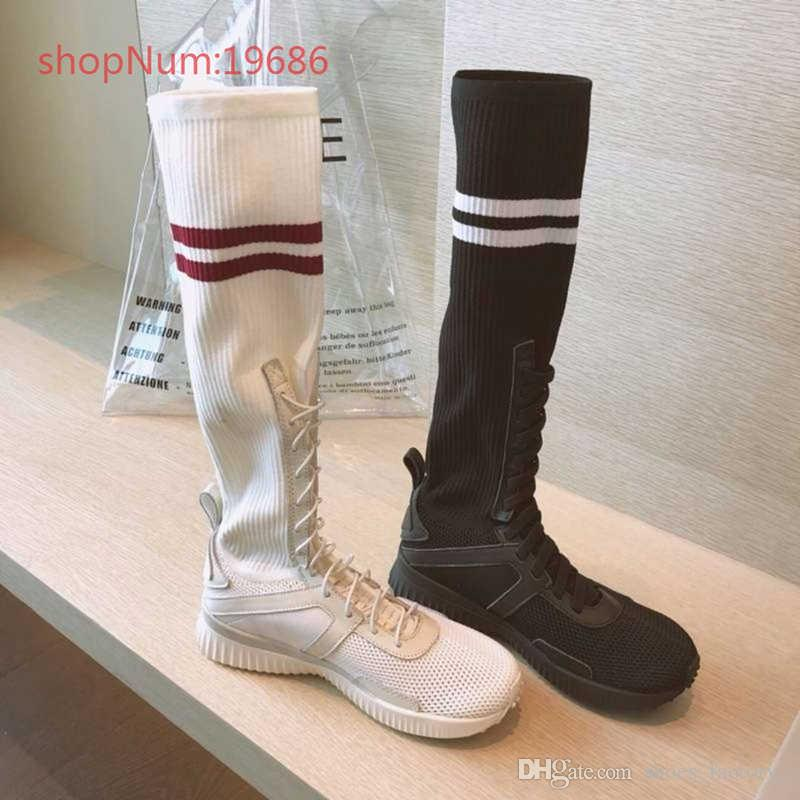 9c4105ed9c3 Hot Sale Luxury Brand Socks Boots Women Over The Knee High Boots ...