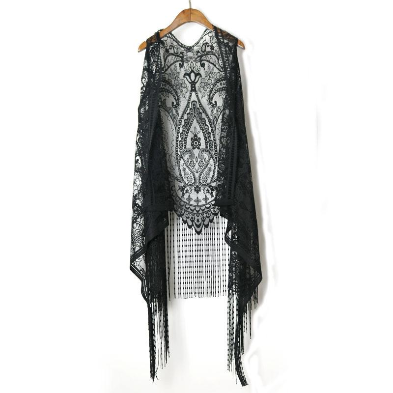 0c3466ce0d375 2019 Summer Spring Women Casual Lace Tassel Vest Cotton Open Stitch Solid  Vests Sleeveless Loose Vests Tops Clothing From Erzhang, $22.13 | DHgate.Com