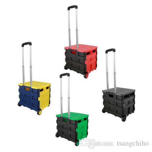 2019 New Folding Boot Cart Shopping Trolley Fold Up