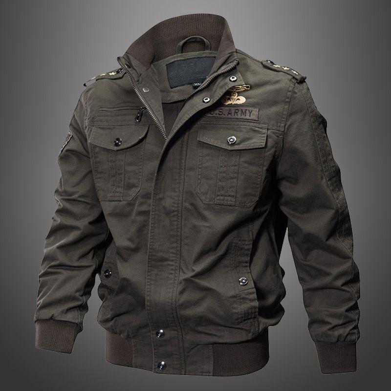 0c0fa3ac151 2018 Military Jacket Men Winter Cotton Jacket Coat Army Men s Big Size  Pilot Jackets Air Force Spring Cargo Jaqueta Jaqueta Men s Jackets  Outerwear   Coats ...