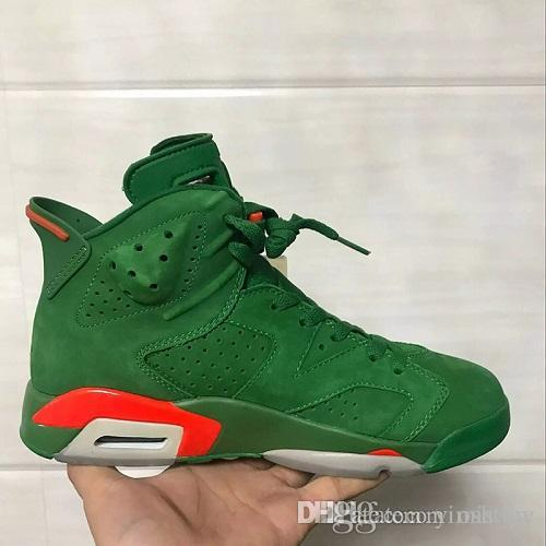 6fa9e7f38297 High Quality 6 6s Gatorade Orange Basketball Shoes Men 6s Gatorade Green  Suede Sneakers New With Shoes Box Online with  130.44 Pair on Yimistore s  Store ...