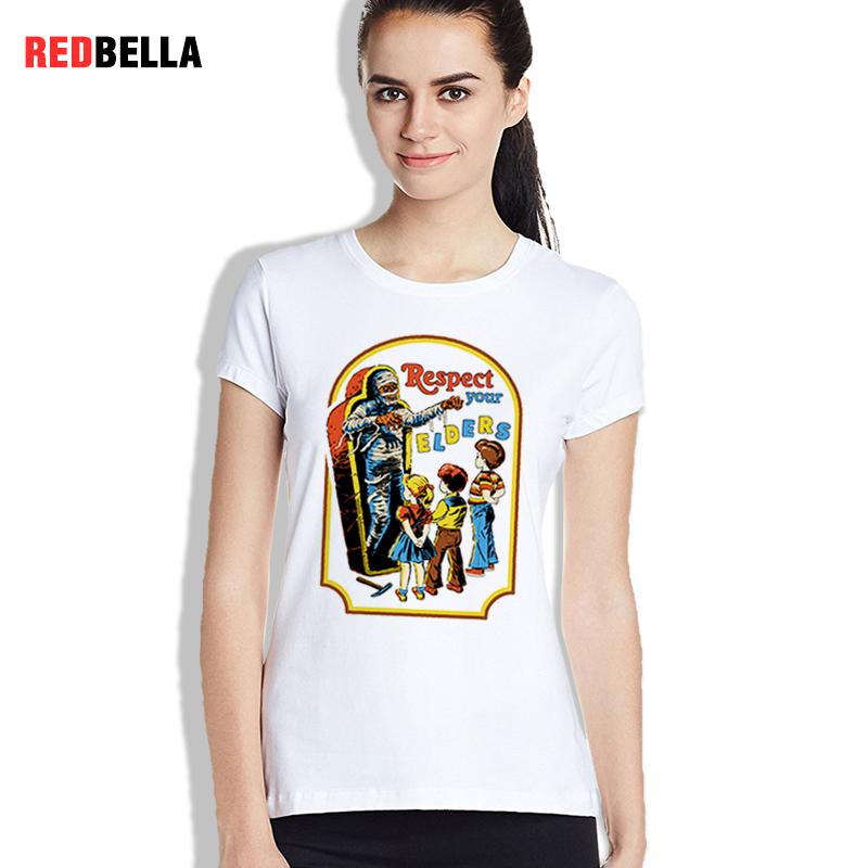 e71ceeec Women's Tee T Shirt Women 70s Vintage Wicked Kids Mummy Women Tees Respect  Your Elders Retro Humor Tshirts Cotton Casual Summer Ladies Tops