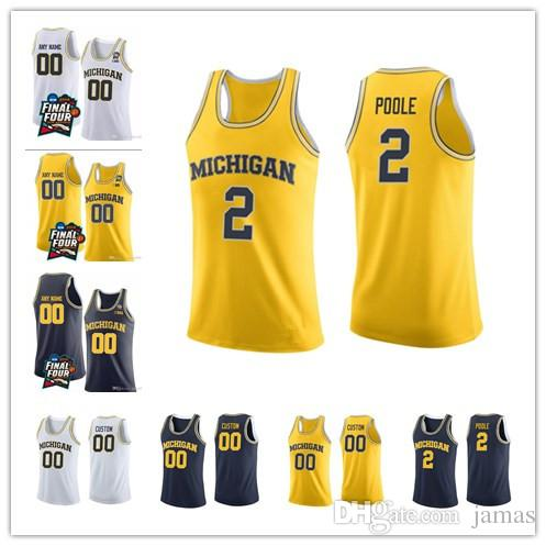 d31c0c9a3a9b 2019 2018 Final Four Michigan Wolverines College Basketball 2 Poole 3  Zavier Simpson 22 Duncan Robinson 4 Isaiah Livers Jerseys White Navy From  Jamas