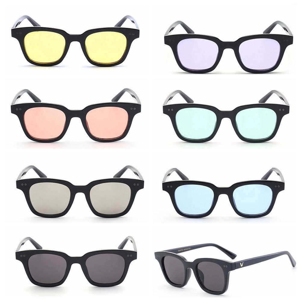 5656b5412d7 Square V South Sunglasses Women Men Retro Designer Plastic Frame Fashion  Sun Glasses Black Red Lens Shades UV400 GGA136 Sunglasses Eyeglasses From  ...