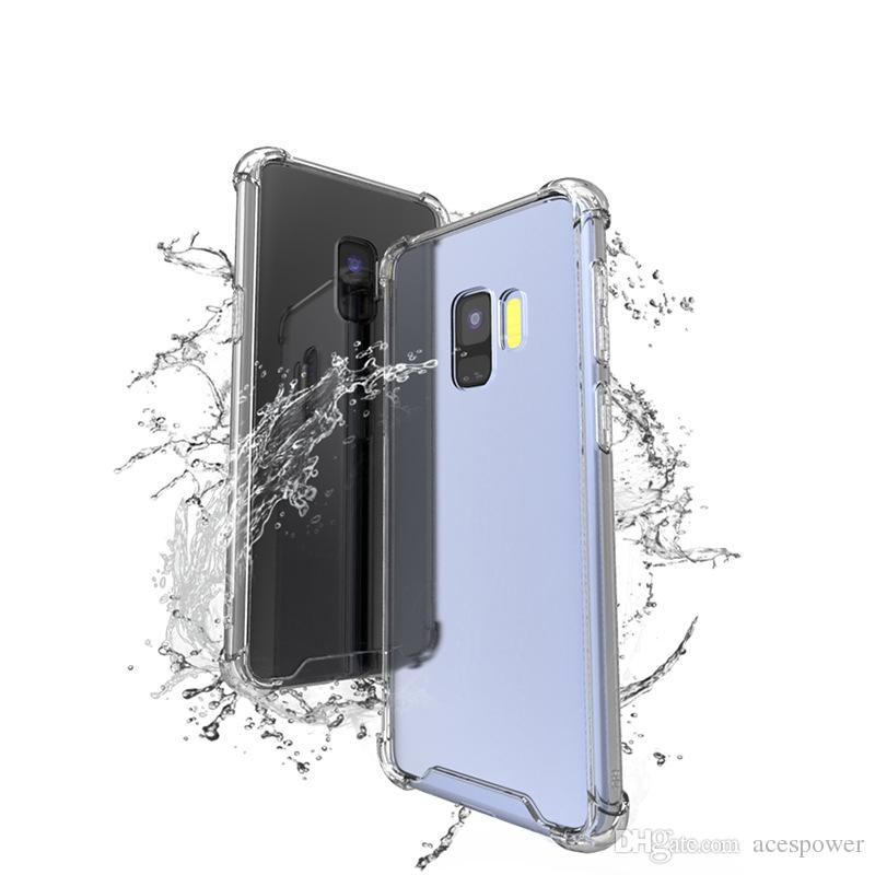 For Iphone 11 Pro XR XS MAX 8 X Samsung S20 S10 S8 Plus Note 10 Cover Air Cushion Hard Back Acrylic