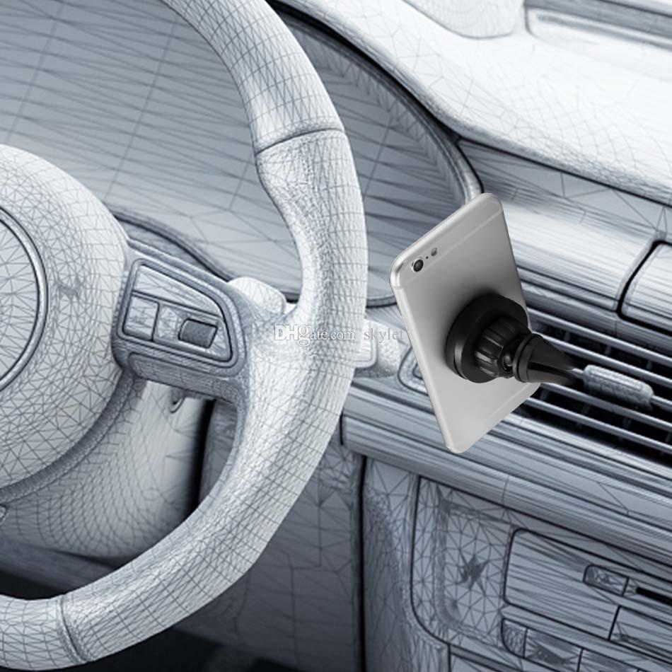 360 Derece Rotasyon Araç Montaj Telefon Tutucu İstasyonu Storng Manyetik Araba Tutucu Perakende Kutusu ile Daha Kolay Güvenli Sürüş