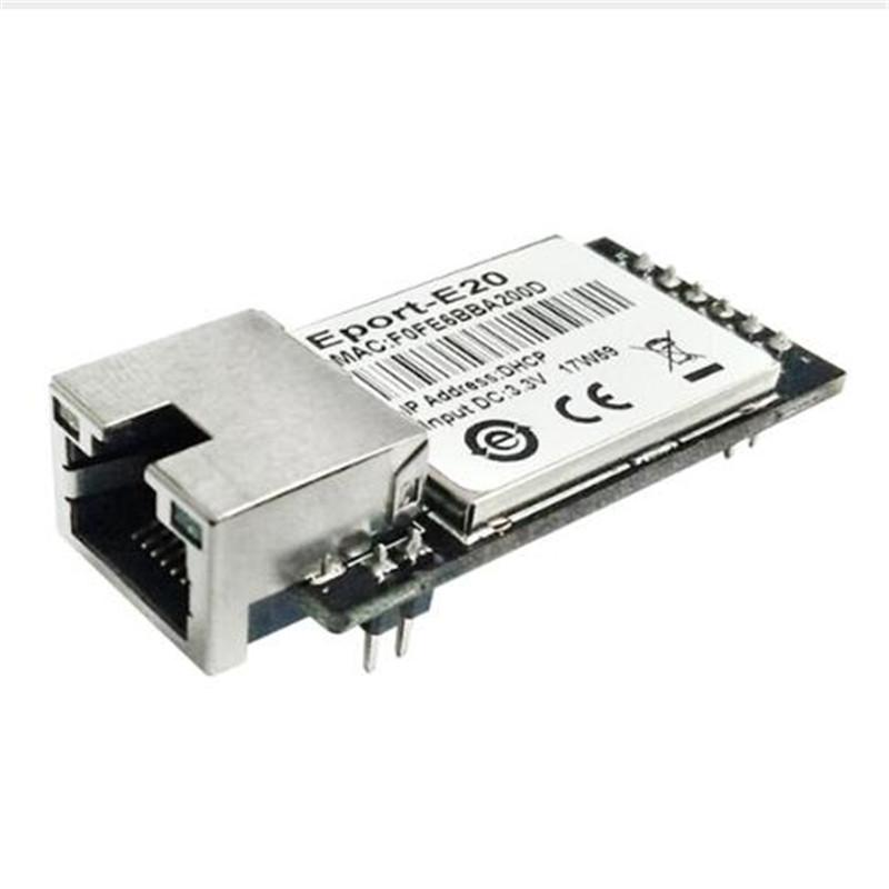 Eport-E20-Pin Free RTOS Network Server Port TTL Serial to Ethernet Embedded  Module DHCP 3 3V TCP IP Telnet Converter