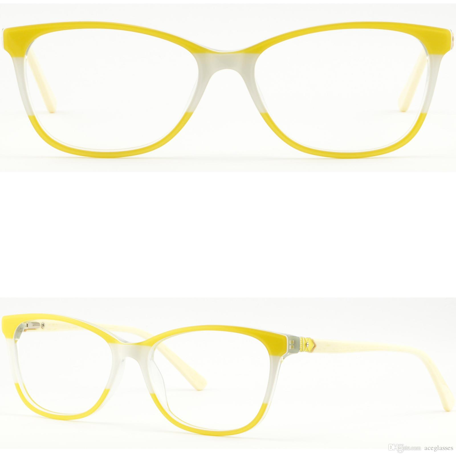 2b69b34814 Light Women Acetate Frame Spring Hinges Rectangle Prescription Eyeglasses  Yellow Eye Frames Online Eyeglass Frame Repair From Aceglasses