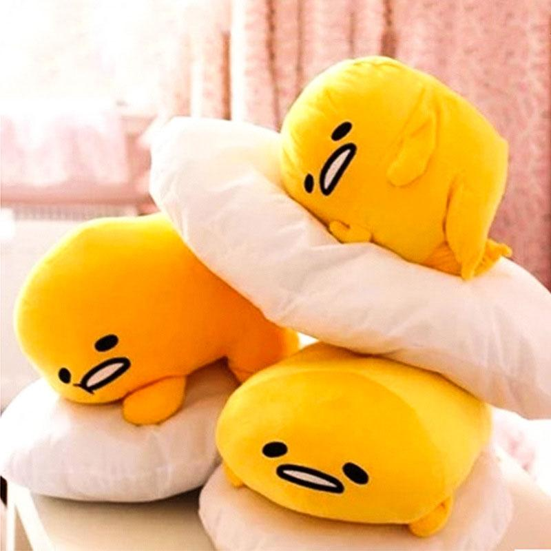 c762d9a6a6a 2019 SAILEROAD 40X30CM Gudetama Lazy Egg Eggs Jun Egg Yolk Brother Plush  Doll Stuffed Toy For Christmas Or Valentine S Day Gift From Gaozang