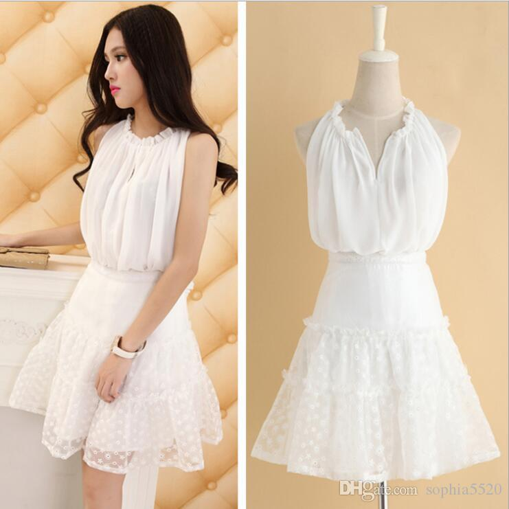 253a67762 2018 The Women New Spring Dress Female Silk Chiffon Shirt Sleeveless Vest Loose  Shirt And Spliced Skirt Women Set Online with $26.29/Piece on Sophia5520's  ...