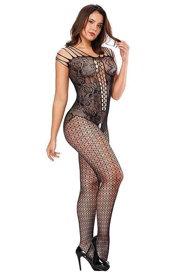 70c6fdd6257 2019 Open Crotch Tight Fishnet Bodystocking Plus Size Crotchless Bodysuit  Lingerie For Women Bodysuit Sexy Lingerie Sleepwear From Boniee