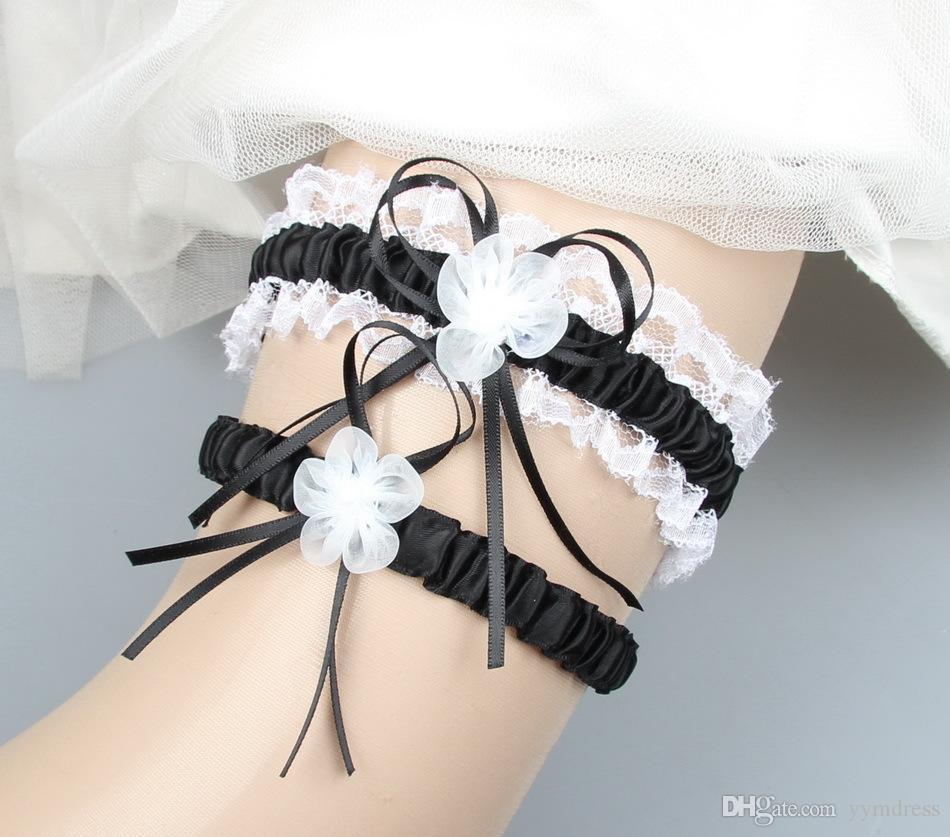 Borgogna nuziale Giarrettiera Prom Giarrettiera da sposa Cintura reggicalze 2 pezzi set Nastro in pizzo Fiori cristalli Perle Formato libero da 30 a 60 cm