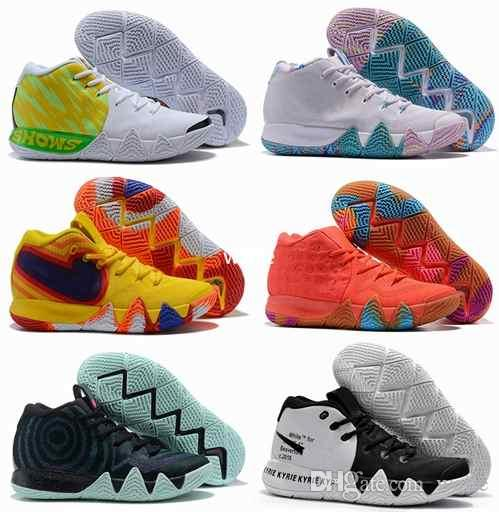 d23224e14b8b 2019 Off Kyrie Irving 4s IV EP 70s 80s 90s Decade Pack Multi Color Uncle  Drew White Irving 4 Mens Basketball Shoes Sport Sneakers 40 46 From Weile