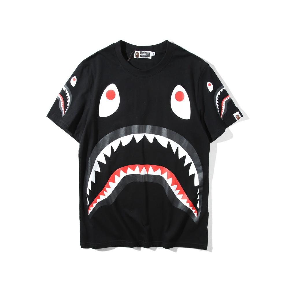 Plain T Shirt Spring Xia Tide Brand Man Leisure Time Japanese Shark