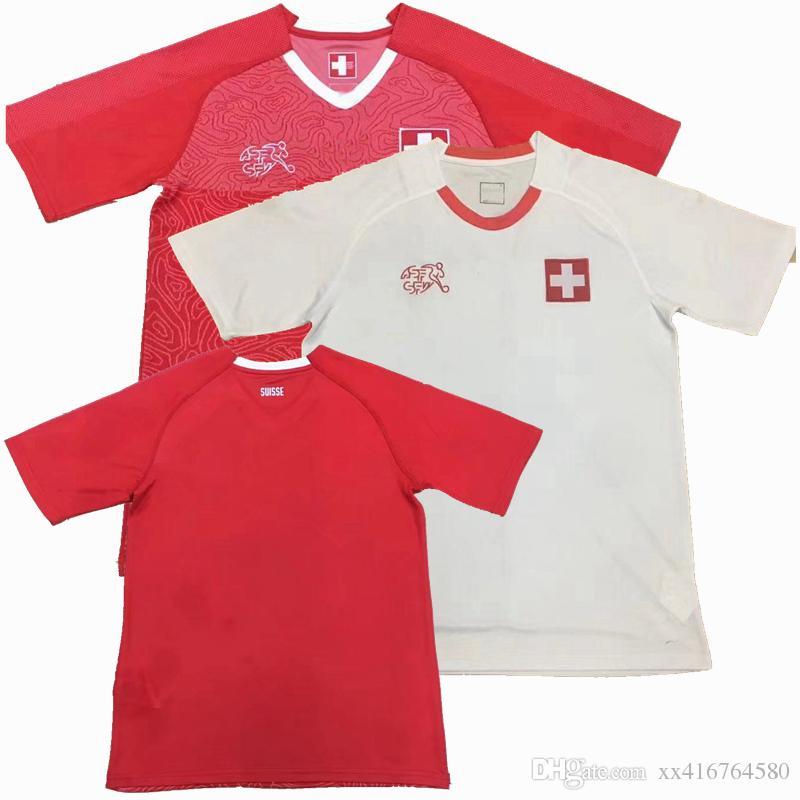 9c0129363 ... get new 2018 switzerland soccer jersey xhaka lichtsteiner shaqiri  rodríguez derdiyok home away shirt 18 19