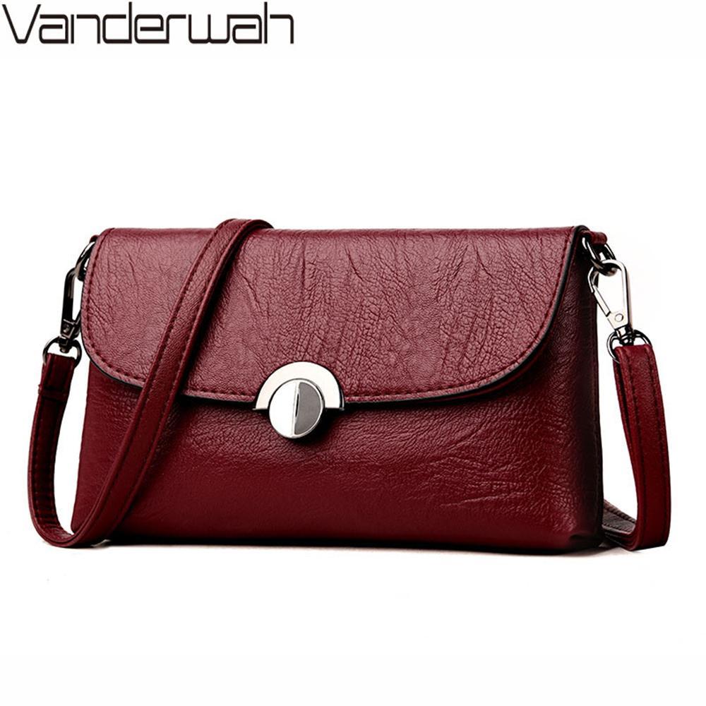 4b2b06153b4a 2018 Women Messenger Bag Women Leather Handbags New Solid Famous Brands  Shoudler Bag Clutch Bags Bolsa Feminina Sac A Main Name Brand Purses  Handbag Sale ...