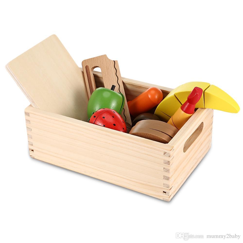 Großhandel 13 Stücke Holz Nachgeahmte Schneiden Obst Und Gemüse ...