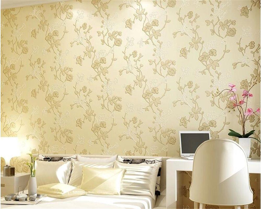 Beibehang Nonwoven Fabric Wall Paper Living Room Bedroom Video Tv  -> Border De Parede Para Sala