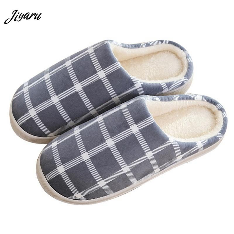 34a714c172a 2018 Hot Sale Soft Plush Slippers Shoes for Men Non-Slip Men Floor Slippers  Winter Indoor Male Shoes for Bedroom
