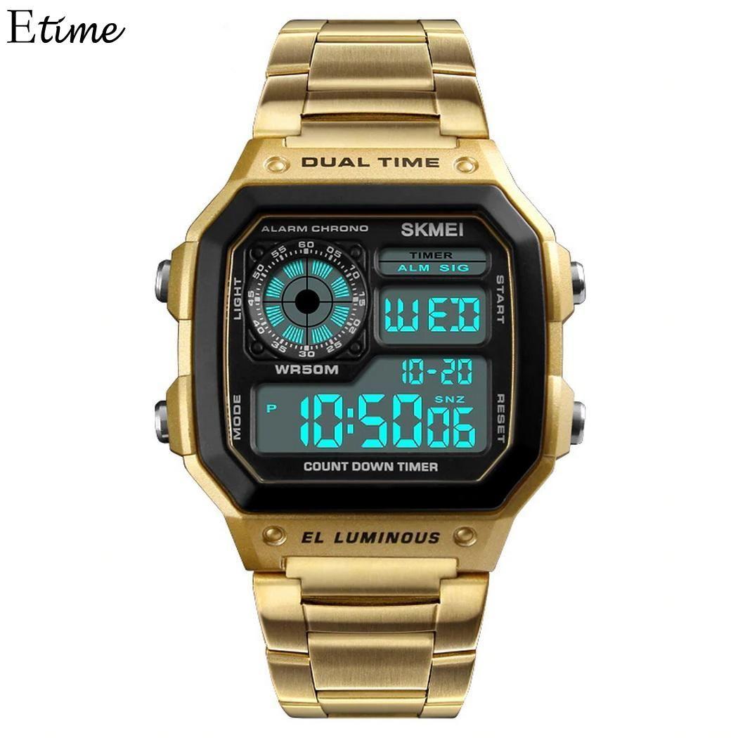 dcbd71f1db4 Compre Negócios Relógio Casual Casual Etc Digital Moda Relógio De Pulso Bar  Homens Negócios Fecho Ajustável Eletrônico Dobrável 5 Trabalho De Turban