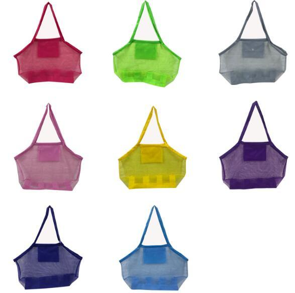 Sand Away Beach Mesh Bag Large Portable Organizer Tote Toys Sea Shell Bath Toy Storage Bag Kids Sand Bag EEA464 150PCS