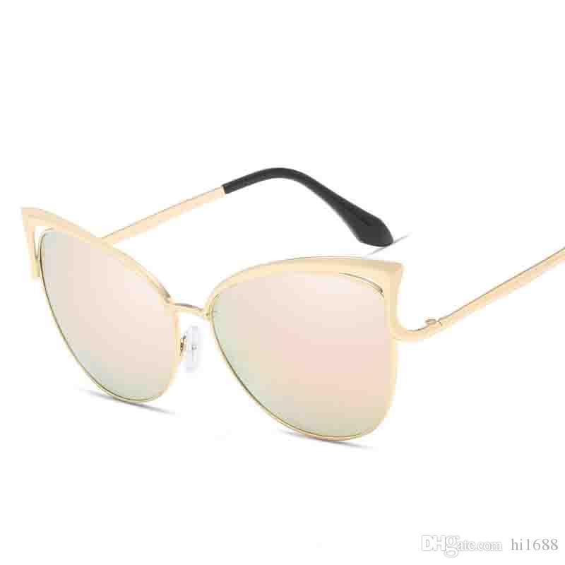 Compre 2019 Olho De Gato Óculos De Sol Das Mulheres Designer De Marca De  Luxo De Metal Óculos De Sol Para Feminino Vintage Oculos De Sol Feminino De  Hi1688, ... 72c6d06ed1