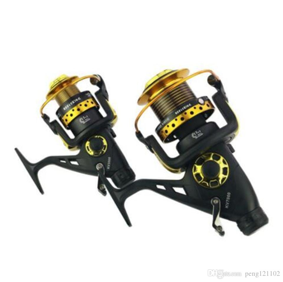 2018 New Arrival 13+1 BB Front and Rear Drag reels 3000-8000 fishing reel Spinning wheel type fishing wheel Sea Rock lure fishing