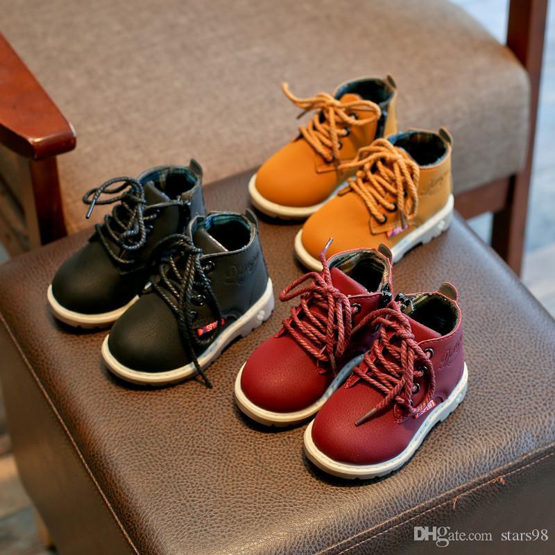 Baby Stiefel Winter 2018 Warme Infant Kleinkind Mädchen Martin Sneaker Stiefel Schnee Baby Casual Schuhe Kinder Boden Jungen Mädchen Stiefel Stiefel