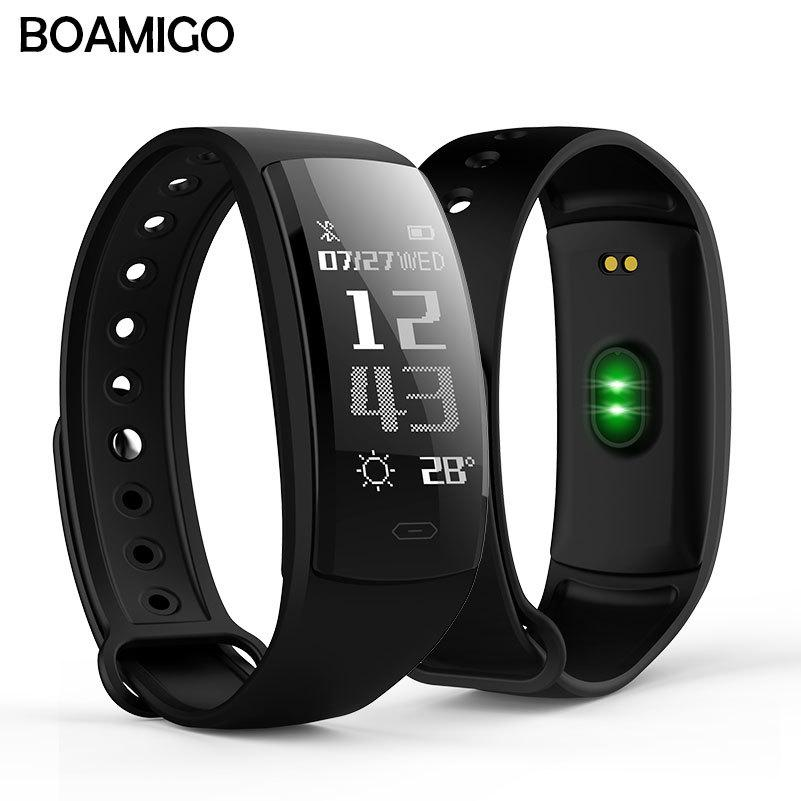 Boamigo Smartwatch For Android Ios Phone Smart Bracelet Heart Rate Calorie Reminder Chronograph Men Sports Watch Smartwatch Discounts Sale Digital Watches Watches