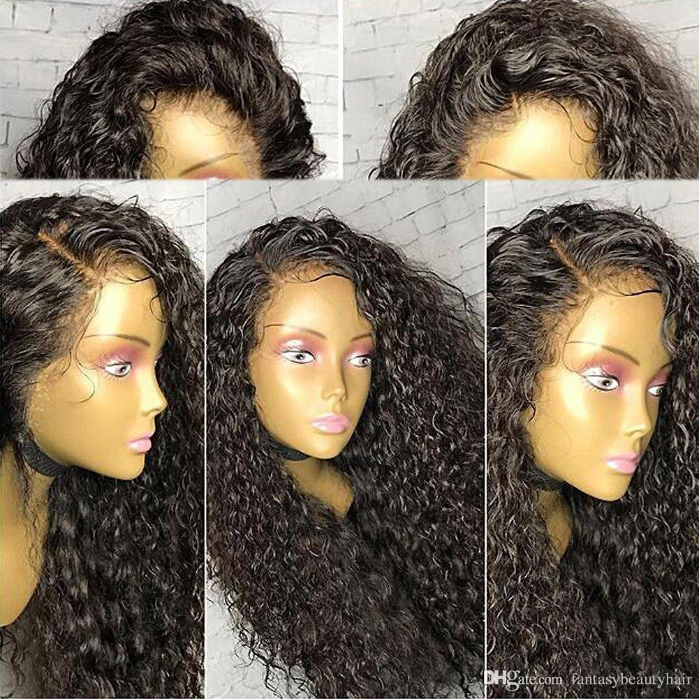 360 Lace Perücke 180% Density Curly Full Lace Perücke Human Hair 360 Lace Frontal Perücke mit Babyhaar vorgezupft