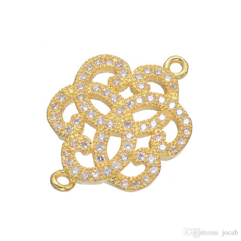 Wholesale Crystal Rhinestones Circle Karma Infinity Connectors DIY Bracelet Earrings Findings Loop Round Connectors Jewelry Making