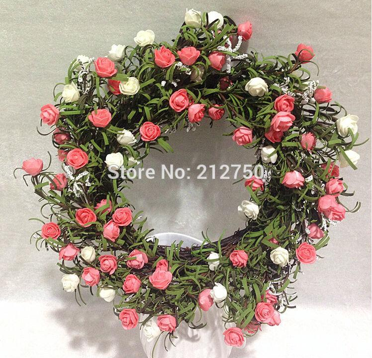 2018 45cm high quality export artificial rose flower wreath silk 2018 45cm high quality export artificial rose flower wreath silk flower garland home indoor outdoor decorations from lilingainiqi 36982 dhgate mightylinksfo