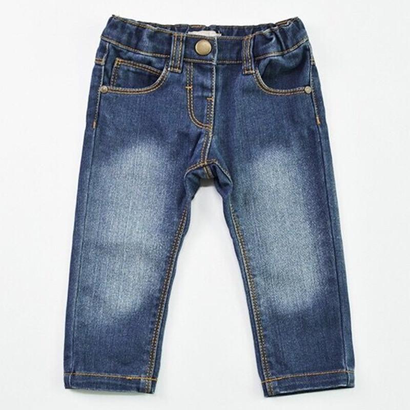 785909050 Baby Boys Denim Jeans Girl Pants Trousers Newborn Infant Bottoms New Born  Kid Adjustable Elastic Waist Curling Children Clothing Y18103008 Girls  Straight ...