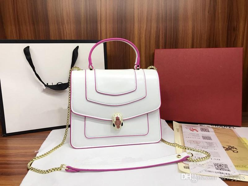 c8bb6d54b8 2018 Luxury Famous Brand Handbags Designer Bags Handbag Lady Backpack Snake  Head Girl Women Shoulder Bag Man Bags Crossbody Purses From Hlwyyes